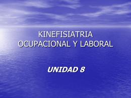 KINEFISIATRIA OCUPACIONAL Y LABORAL