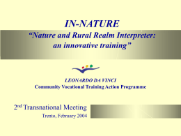 IN-NATURE Nature and Rural Realm Interpreter: an