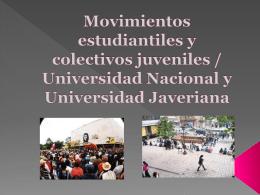Movimientos estudiantiles y colectivos juveniles