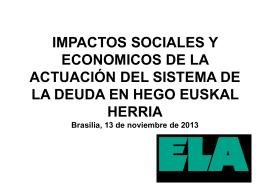 IMPACTOS SOCIALES Y ECONOMICOS DE LA …