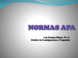 CURSILLO NORMAS APA