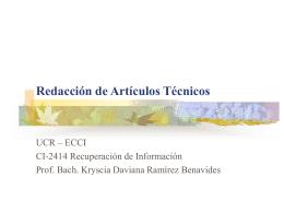 REDACCION DE ARTICULOS TECNICOS