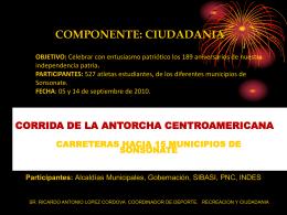 CORRIDA DE LA ANTORCHA CENTROAMERICANA