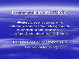 Protocolo internet TCP/IP