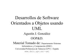 Desarrollos de Software Orientados a Objetos usando UML