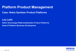Nokia Technology Platforms