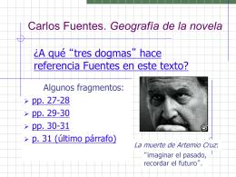 Carlos Fuentes. La nueva novela hispanoamericana