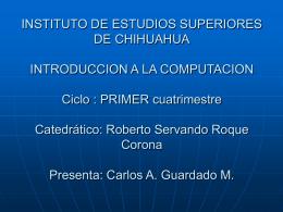 INSTITUTO DE ESTUDIOS SUPERIORES DE CHIHUAHUA …