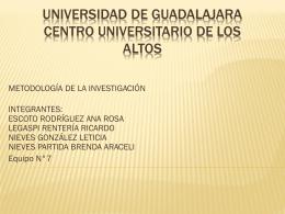 UNIVERSIDAD DE GUADALAJARA CENTRO …
