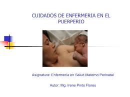 CAMBIOS FISIOLOGICOS Y PSICOLOGICOS DEL PUERPERIO