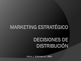 Marketing- Decisiones de Distribucion
