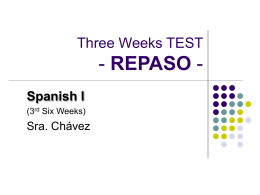 Three Weeks TEST - REPASO - Northwest ISD / Overview