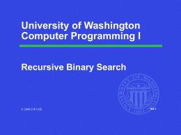 CSE / ENGR 142 Programming I