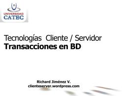 Concurrencia en SBD