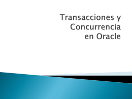 Transaccion en Oracle