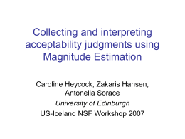 Collecting and interpreting acceptability judgments using