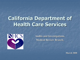 California Department of Health Services