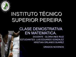 INSTITUTO TECNICO SUPERIOR PEREIRA