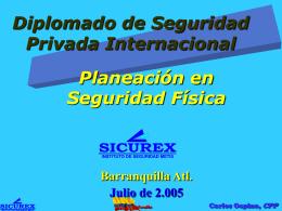 PLANEACION DE LA SEGURIDAD FISICA
