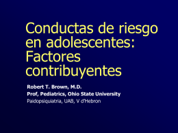 Risk Behaviors in Adolescents: Predisposing Factors