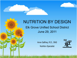 Anne Gaffney: NUTRITION BY DESIGN (PowerPoint)