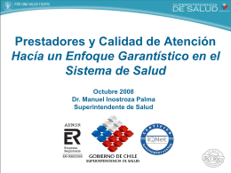 Diapositiva 1 - Inicio - Superintendencia de Salud