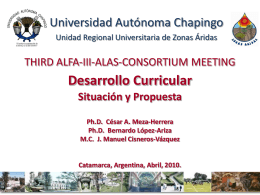 THIRD ALFA-III-ALAS-CONSORTIUM MEETING