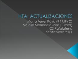 HTA: ACTUALIZACIONES - Docencia Rafalafena | Articulos