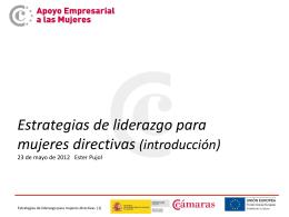 Diapositiva 1 - Mujeres emprendedoras. Mujeres empresarias