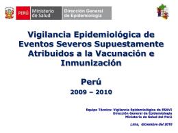 ESAVI-vacuna influenza Pandemica AH1N1