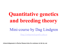 Quantitative genetics and breeding theory