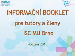Slajd 1 - ISC MU Brno