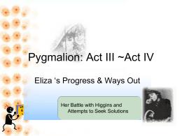 Pygmalion Act IV