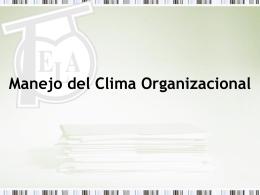 Manejo del Clima Organizacional - ELA