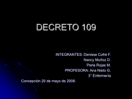 DECRETO 109 - Enfermeriavespertina's Blog