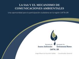 La SAA y el mecanismo de comunicaciones por …