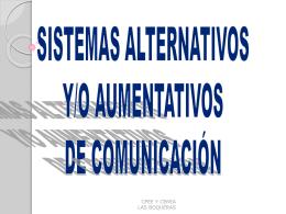 SISTEMAS AUMENTATIVOS Y/O ALTERNATIVOS DE …