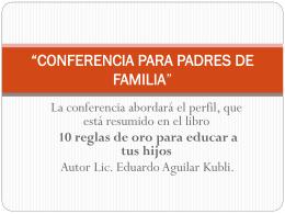 Conferencia - KUBLI Y ASOCIADOS