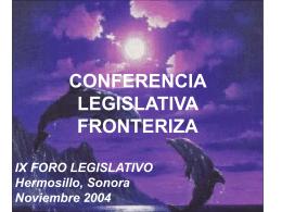CONFERENCIA LEGISLATIVA FRONTERIZA