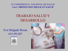 IV CONFERENCIA NACIONAL DE SALUD Panel: …
