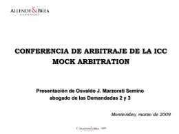 CONFERENCIA DE ARBITRAJE DE LA ICC MOCK …