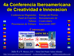 4a Conferencia Iberoamericana de Creatividad e Innovacion