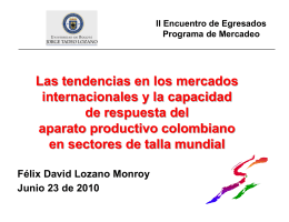 Conferencia Tendencias en los mercados internacionales