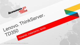 ThinkServer TD350 Customer Presentation