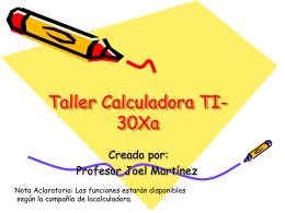Ciencia General Taller Calculadora TI-30Xa