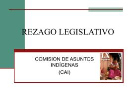 REZAGO LEGISLATIVO - CAMARA DE DIPUTADOS