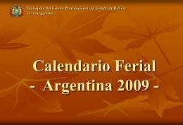 Calendario Ferial