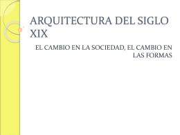 ARQUITECTURA DEL SIGLO XIX