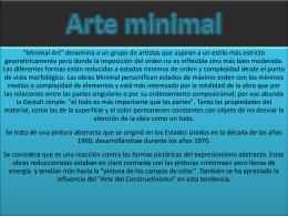 Arte minimal