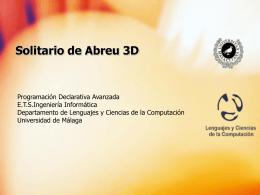 Solitario de Abreu 3D - Departamento Lenguajes y …